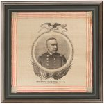 """OUR GEORGE HE'S ALRIGHT"" SPANISH AMERICAN WAR ADMIRAL DEWEY PORTRAIT TEXTILE."