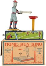 """HOME RUN KING"" BOXED BASEBALL WIND-UP."