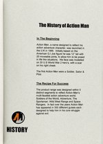 """ACTION MAN"" LIVE ACTION MOVIE PROPOSAL PACKAGE W/FIGURE, BOOKLET AND VIDEO IN PRESENTATION CASE."