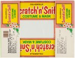 "COLLEGEVILLE ""SCRATCH 'N SNIFF COSTUME & MASK"" BOX LID ORIGINAL ART LOT."