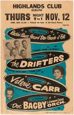 "THE DRIFTERS ""ROCKIN' BLUES RECORD STAR PARADE OF '60"" CONCERT POSTER."