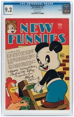 """NEW FUNNIES"" #101 JULY 1945 CGC 9.2 NM- (FILE COPY)."