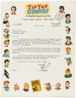 """TIP TOP COMICS"" 1938 LETTER FROM PUBLISHER LEV GLEASON TO AL CAPP."