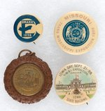 TRANS-MISSISSIPPI 1898 EXPO FIVE PIECES INCLUDING RARE NEBRASKA AND MISSOURI ITEMS.