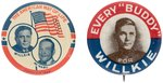 "PAIR OF WILLKIE BUTTONS INCLUDING JUGATE AND ""EVERY 'BUDDY.'"""