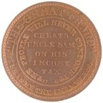 "ANTI-TILDEN ""SHAMMY THE SHAMELESS"" SATIRICAL TOKEN DeWITT 1876-7."