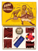 """ZABU AND HIS WILD ANIMALS"" CASTING SET."