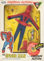 """CAPTAIN ACTION - SPIDER-MAN UNIFORM & EQUIPMENT"" BOXED SET W/RING."