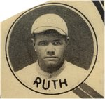 "1916 BOSTON RED SOX ""AMERICAN LEAGUE/WORLD'S CHAMPIONS"" W/BABE RUTH AMAZING ADVERTISING BUTTON."