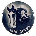 """GENE AUTRY"" WITH CHAMPION BUTTON."