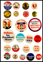 24 Republican Campaign Buttons 1964-1976