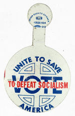 """VOTE TO DEFEAT SOCIALISM"" BUTTON."