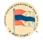 NICE EARLY MICHIGAN CARNIVAL BUTTON.