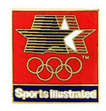 """SPORTS ILLUSTRATED"" OLYMPIC BADGE."