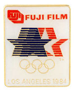"""LOS ANGELES 1984 FUJI FILM"" OLYMPIC BADGE."