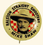 "TOM MIX ""RALSTON STRAIGHT SHOOTERS"" BUTTON."