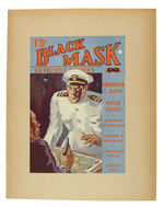 """BLACK MASK"" PULP DISPLAY SIGN."