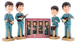 THE BEATLES GIANT BOBBING HEAD STORE DISPLAY FIGURE SET BY CAR MASCOTS INC.