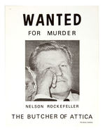 "ROCKEFELLER ""BUTCHER OF ATTICA"" SATIRE ""WANTED"" POSTER"