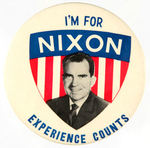 """I'M FOR NIXON"" 1960 PINBACK BUTTON."