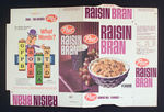 POST RAISIN BRAN CEREAL BOX FLAT PAIR