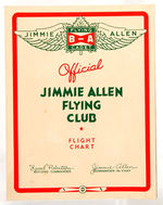 """JIMMIE ALLEN FLYING CLUB"" CANADIAN NEWSPAPERS AND CHART."