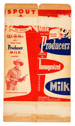 WILD BILL HICKOK AND JINGLES MILK CARTON FLAT.