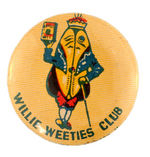 ANTHROPOMORPHIC WHEAT KERNAL AUSTRALIAN CEREAL CLUB BUTTON.
