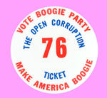 """VOTE BOOGIE PARTY"" BUTTON."
