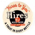 """HIRES TO YOU"" BUTTON FROM HAKE COLLECTION & CPB."