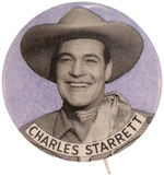 "CPB COWBOYS #511 ""CHARLES STARRETT"" THE DURANGO KID PORTRAIT BUTTON."