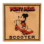 """MICKEY MOUSE SCOOTER"" EXCEEDINGLY RARE VERY EARLY TOY BY NIFTY WITH EVEN RARER BOX."