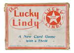 """LUCKY LINDY/A NEW CARD GAME WITH A THRILL."""