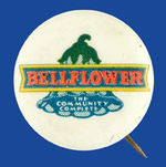 """BELLFLOWER THE COMMUNITY COMPLETE"" CALIFORNIA BUTTON."