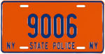 "NEW YORK ""NY STATE POLICE"" METAL LICENSE PLATE."