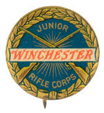"""JUNIOR WINCHESTER RIFLE CORPS"" CLUB MEMBER'S GRAPHIC BUTTON."