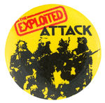 THE EXPLOITED VINTAGE MUSIC BUTTON.