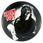 QUIET RIOT VINTAGE MUSIC BUTTON.