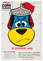 """SIR HUCKLEBERRY HOUND/PIXIE"" KELLOGG'S CORN FLAKES BOX BACK MASKS."