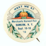 NEW YORK HARVEST BUTTON WITH NICE GRAPHICS.