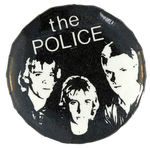 THE POLICE VINTAGE MUSIC BUTTON.