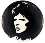 DAVID BOWIE VINTAGE MUSIC BUTTON.
