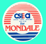 SCARCE LABOR ISSUE FOR MONDALE BUTTON.