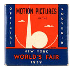 "1939 NYWF 'MOTION PICTURES"" BOXED FILM REEL"