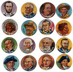 """YANK JUNIOR HERO SERIES"" COMPLETE SET OF 1930s BUTTONS."