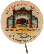 "CPB DEPARTMENT STORES #282 ""THE STRUBY-ESTABROOK MERC. CO."" ADVERTISING BUTTON."