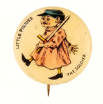 """LITTLE PINKIES THE SOLDIER"" BUTTON."