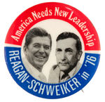 "HOPEFUL JUGATE FOR ""REAGAN-SCHWEIKER IN '76."""