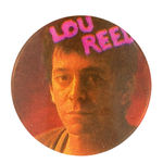 LOU REED VINTAGE MUSIC BUTTON.