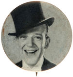 FRED ASTAIRE IN TOP HAT MOVIE SCENE PHOTO BUTTON FROM C. 1965.